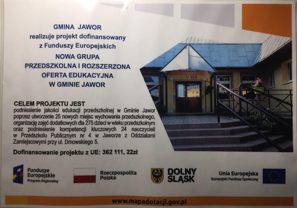 Projekt Nowa Grupa Przedszkolna
